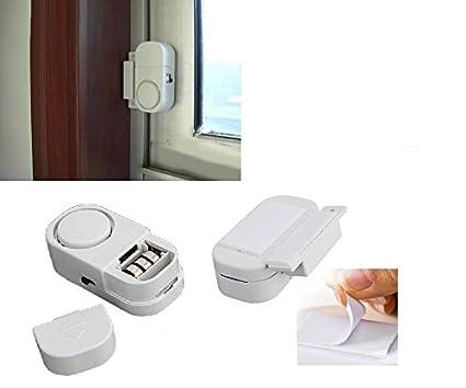 Alarma de Detector de apertura para ventana puerta inalámbrico autocolant magnético antirrobo a pilas