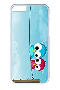 iPhone 6 Plus Case, August Personalized Slim [Scratch Proof] Protective Hard PC White Case Cover for Apple iPhone 6 Plus(5.5 inch) Only