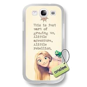 Cartoon Movie Disney Tangled Princess Rapunzel Soft Rubber(TPU) Phone Case & Cover for Samsung Galaxy S3(i9300) - White