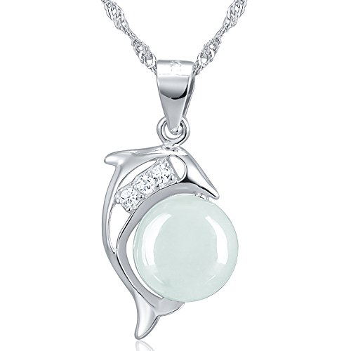 Generic The_Jade_peak_transshipment_ pearl pendant s _dolphin-style_elegance_ necklace pendant _natural_jade_jade_ pendant _dolphin_cargo_transshipment_Pearl (Dolphin Jade Pendant)