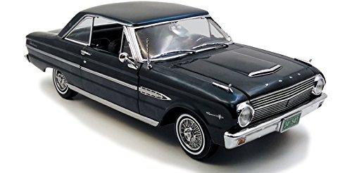 1963 Ford Falcon Hard Top Oxford Blue 1/18 Diecast Model Car by Sunstar 4543