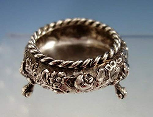 (Antique Cupboard Repousse by Baltimore Sterling Silver Co. Sterling Silver Salt Dip Footed #2972)