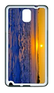 custom made case winter sunset landscape TPU White case/cover for samsung galaxy note 3 N9000