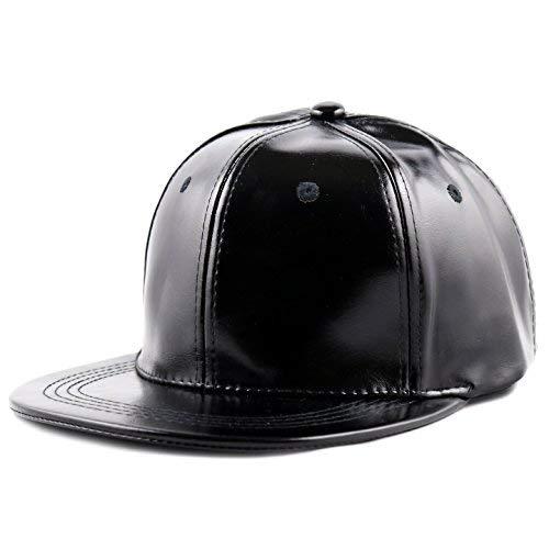 702f1b23e6953 THE HAT DEPOT 1300PU Plain PU Snapback Cap (Black) at Amazon Men s ...