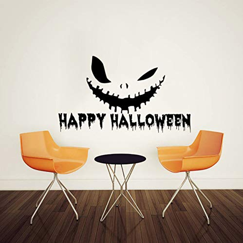 xbwy Happy Halloween Scary Terrifying Face Wall Sticker for Living Room Bedroom Wall Decal Vinyl Mural Stickers Home Decor -