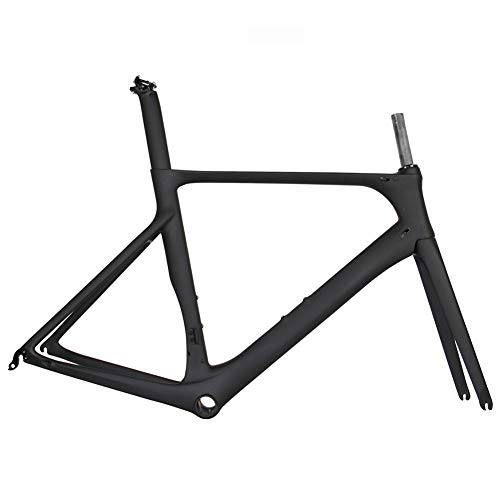 YAMEIJIA Full Carbon Road Bike Frame 2019 New Aero Cycling Racing Bicycle Carbon Frameset T1000 Carbon Road Bicycle Frames,Glossy50cm (Best Road Bike Frame 2019)