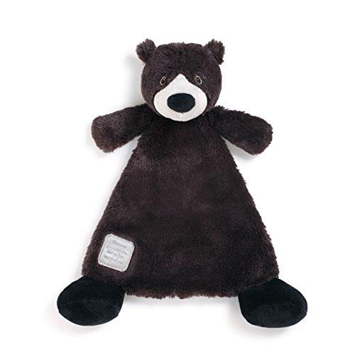 (You are Loved Black Bear Black Children's Plush Lovie Toddler Blanket)