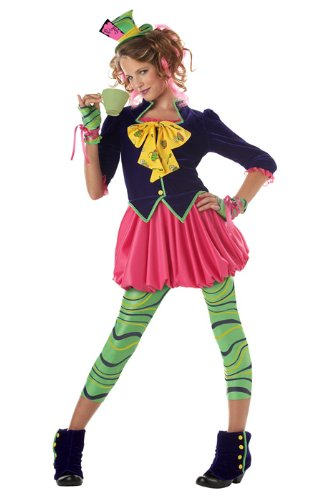 California Costumes Girls Tween Mad Hatter Costume, Multi, X-Large