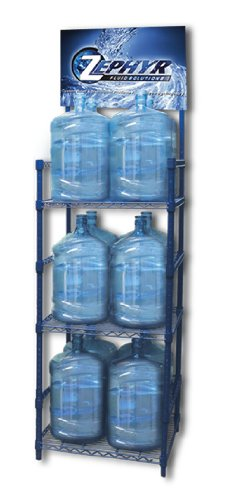 Zephyr Fluid Solutions 5 Gallon Water Bottle Storage Rack with 12 Bottle Capacity