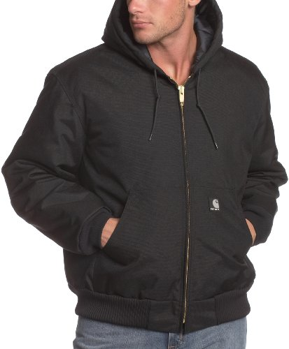 Quilted Hooded Zip Sweatshirt - Carhartt Men's Arctic Quilt Lined Yukon Active Jacket,Black,Large