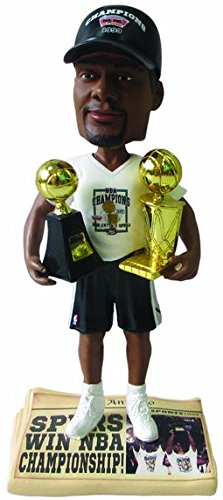 Tim Duncan (San Antonio Spurs) 5X NBA Champ Base (2014 T-Shirt/Hat) 3X Finals MVP Trophy Bobble Head Exclusive ()