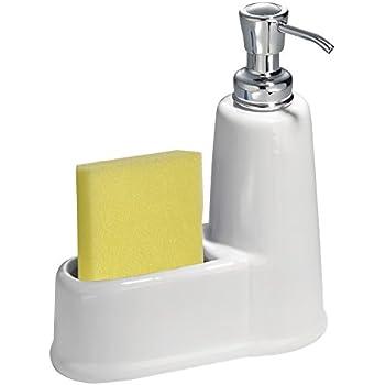 Amazon Com Mdesign Kitchen Countertop Ceramic Soap