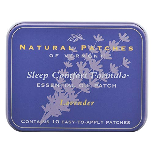 Natural Patches Of Vermont Lavender Sleep Comfort Essential Oil Body Patches, 10-Count Tin ()