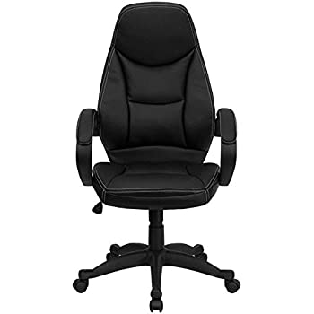 contemporary leather high office chair black. Flash Furniture High Back Black Leather Contemporary Executive Swivel Chair With Arms Office R
