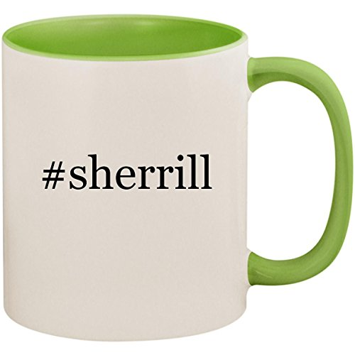 #sherrill - 11oz Ceramic Colored Inside and Handle Coffee Mug Cup, Light Green (Surrey 2 Light)