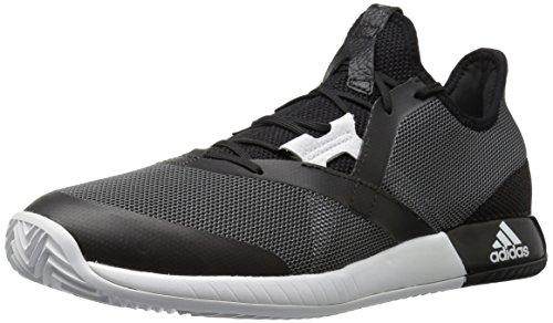 adidas Men's Adizero Defiant Bounce Tennis Shoes, Black/White/Grey Five, (11 M US)
