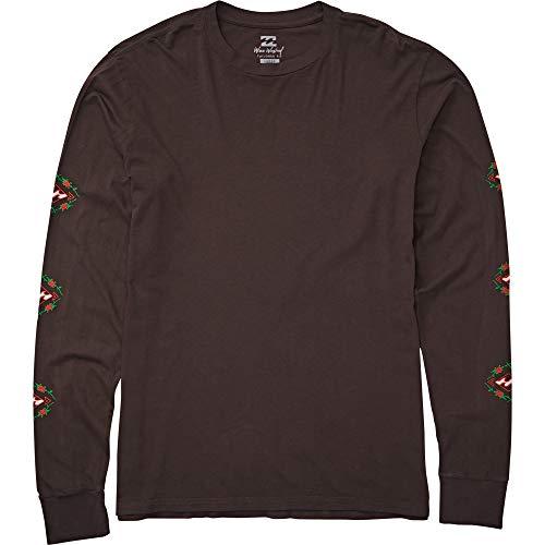 Billabong Men's Rose Diamond Long Sleeve T-Shirt Char Large