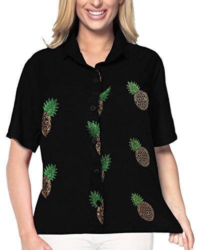 LA LEELA Rayon Collar Plus Size Girls Top Shirt Black 718|XXL - US 44 - ()