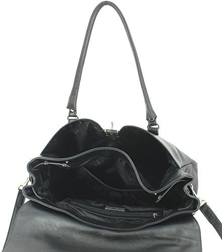 Arthur&Aston - Bolso estilo cartera para mujer negro negro 41 L x 29 H x 11 E cm