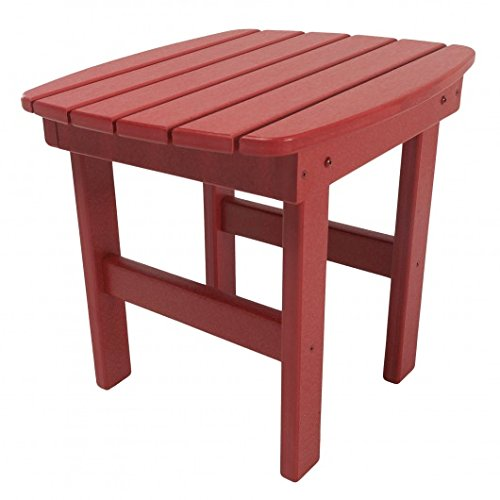 Original Pawleys Island ST1RD Durawood Outdoor Side Table, Red