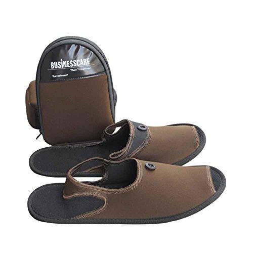 Travel Casual Women brown Aviation Shoes Santimon Non Collapsible Fold Men S Trip Slide Slippers slip Business HTxEwx