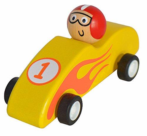 Seedling Classic Wooden Racer Cars (Yellow) (Yellow Seedling)