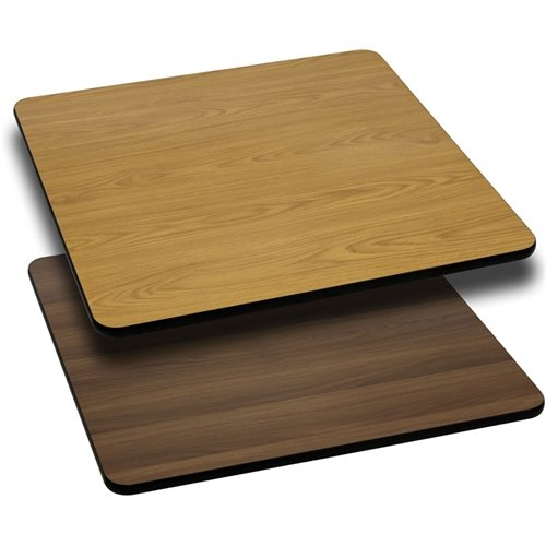 30' Square Table Top (Flash Furniture 30'' Square Table Top with Natural or Walnut Reversible Laminate Top)