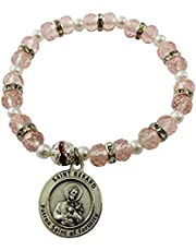 St Gerard Stretch Bangle Bracelet and Holy Card with Prayer for Women's Fertility and Pregnancy