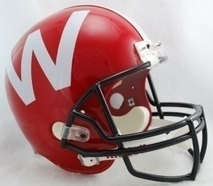 Wisconsin Badgers Full Size Replica Football Helmet by Riddell - RED (Riddell Wisconsin Badgers Replica Helmet)
