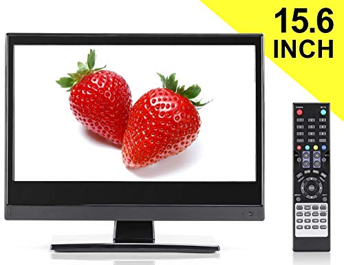 Small TV - Perfect Kitchen TV - 15.6 inch LED TV - Watch HDTV Anywhere - for Kitchen tv, RV tv, Office tv & More- Free HD Local Channels - Small HD TV - USB, HDMI, RCA, RF & More