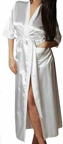 21f999c865 Vovotrade Women Long Robe Lingerie Uniforms Temptation Intimates Sexy  Underwear Adorable Sleepwear with Belt
