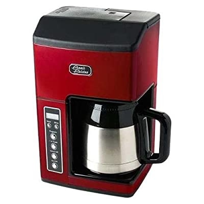 Cuisinart CC-10RFR Cuisinart CC-10FRR Grind & Brew 10-Cup Coffeemaker (Certified Refurbished), Red