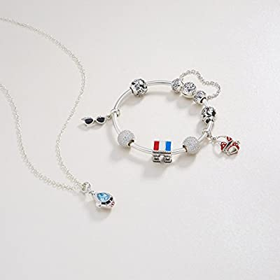 Glamulet Art - Bikini Dangle Charm -- 925 Sterling Silver