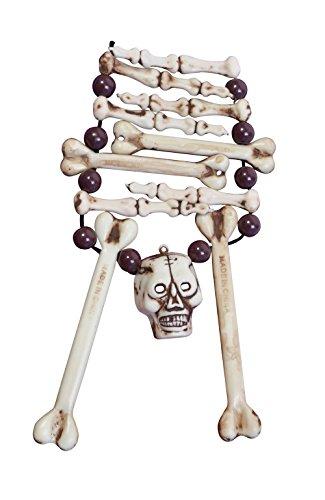 Bristol Novelty BA012 Skeleton Bone Necklace, Womens, One -