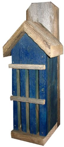 Nature Gift Store Rustic Butterfly House from Recycled Fence Wood: Blue Hand Made in Oklahoma USA