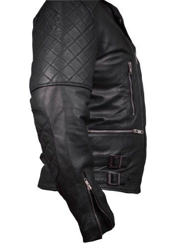 Leatherly Quilting Motociclista Giacca Brando Pelle Uomo With Details OxvrwYOq