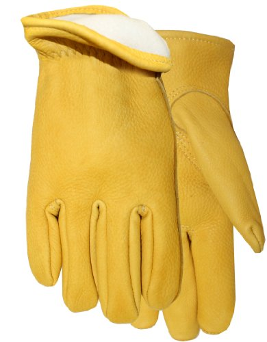 [Midwest Gloves and Gear 850TH-M-AZ-6 Buckskin with Thinsulate Lined Insulation Work Glove, Medium, 1-Pack] (Deerskin Winter Lined Glove)