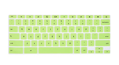 CaseBuy 13.3 ASUS Chromebook Keyboard Protector Skin for ASUS C300 C300MA C300SA C301SA-DS02 C301SA-DB04 ChromeBook 13.3 Inch US Layout (Green)