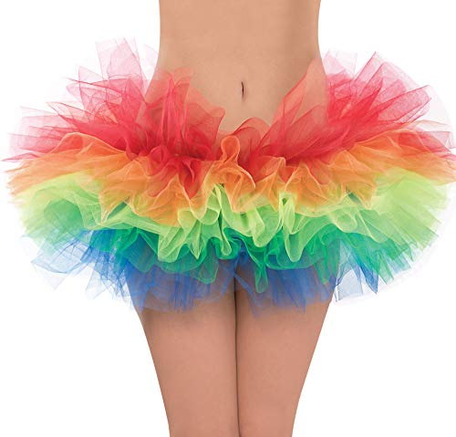 Amscan Rainbow Ballet Tutu - Adult Standard, One Size, Multicolor]()