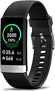 MorePro Blood Oxygen SpO2 Heart Rate Monitor Blood Pressure Fitness Activity Tracker with Low O2 Reminder, IP6