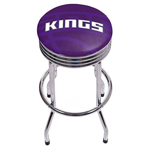 Trademark Gameroom NBA1005-SK2 NBA Chrome Ribbed bar Stool - Fade - Sacramento Kings