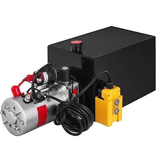 Mophorn Single Acting Hydraulic Pump Dump Trailer Steel Hydraulic Power Unit (Steel, 15 Quart/Single Acting)
