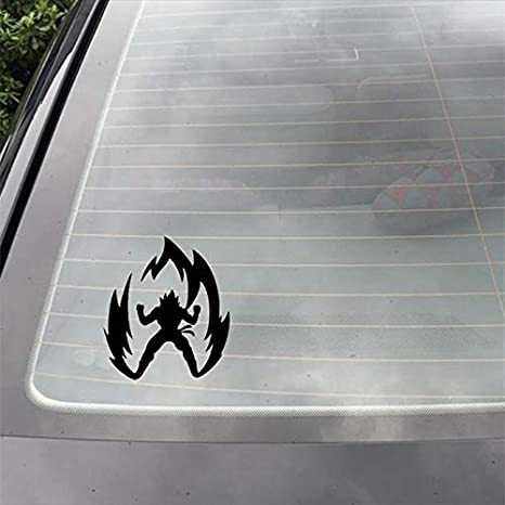 Personalized car stickers Dragon Ball Cartoon Cartoon Car Sticker Carving Body Sticker csfssd Color : White