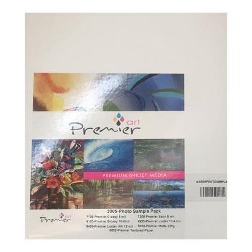 Premier Imaging Art Photo Inkjet Paper Sample Pack, 7 Samples (2 Sheets Each)