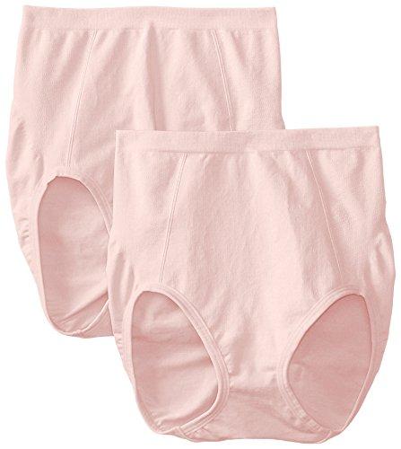 Bali Women's Shapewear Seamless Brief Ultra Control 2-Pack, Blushing Pink/Blushing Pink, XX-Large