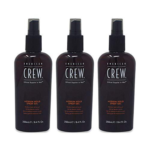 AMERICAN CREW by American Crew SPRAY GEL MEDIUM HOLD 8.45 OZ (Package of 3) (American Crew Medium Hold Spray Gel 250ml)