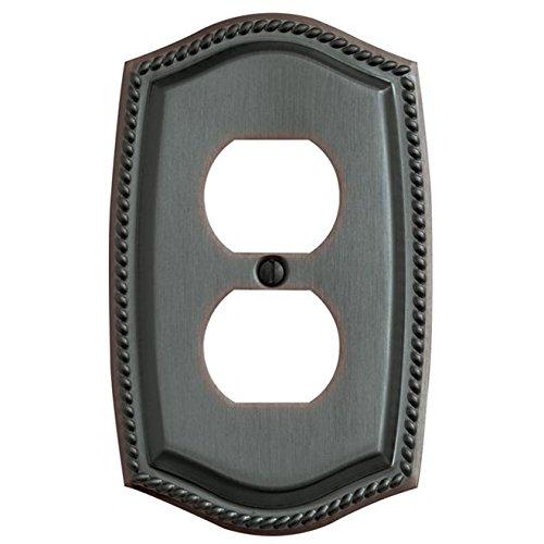 Baldwin 4789.112.CD Rope Design Duplex Switch Plate, Venetian Bronze (Cd Switch Plate Rope)