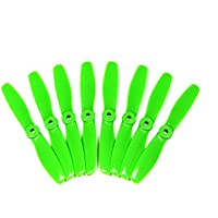 DALPROP 5045 Green V2 Propellers 2-Blade Bullnose Indestructible 4XCW and 4XCCW Ideal for 250mm-310mm Quadcopter, Racing, FPV or RC Aircraft. Extreme Racing Performance. Genuine DAL Props