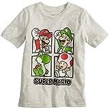 Jumping Beans Boys 4-10 Nintendo Super Mario Bros. Grid Graphic Tee 5 Oatmeal Heather