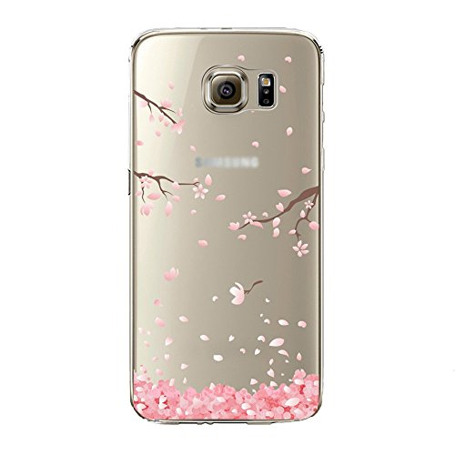Urberry Galaxy S7 Edge Case, S7 Edge Soft Case, Spring Flower Case Cover for Samsung Galaxy S7 Edge with a Free Screen Protector